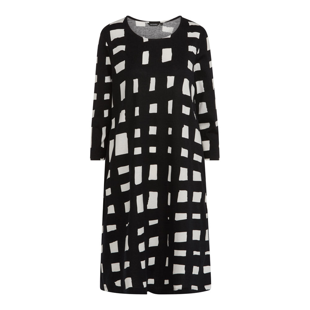 Aretta Harso Dress in Black and White Check