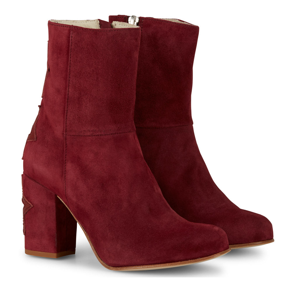 Moon Suede Boots in Bordeaux