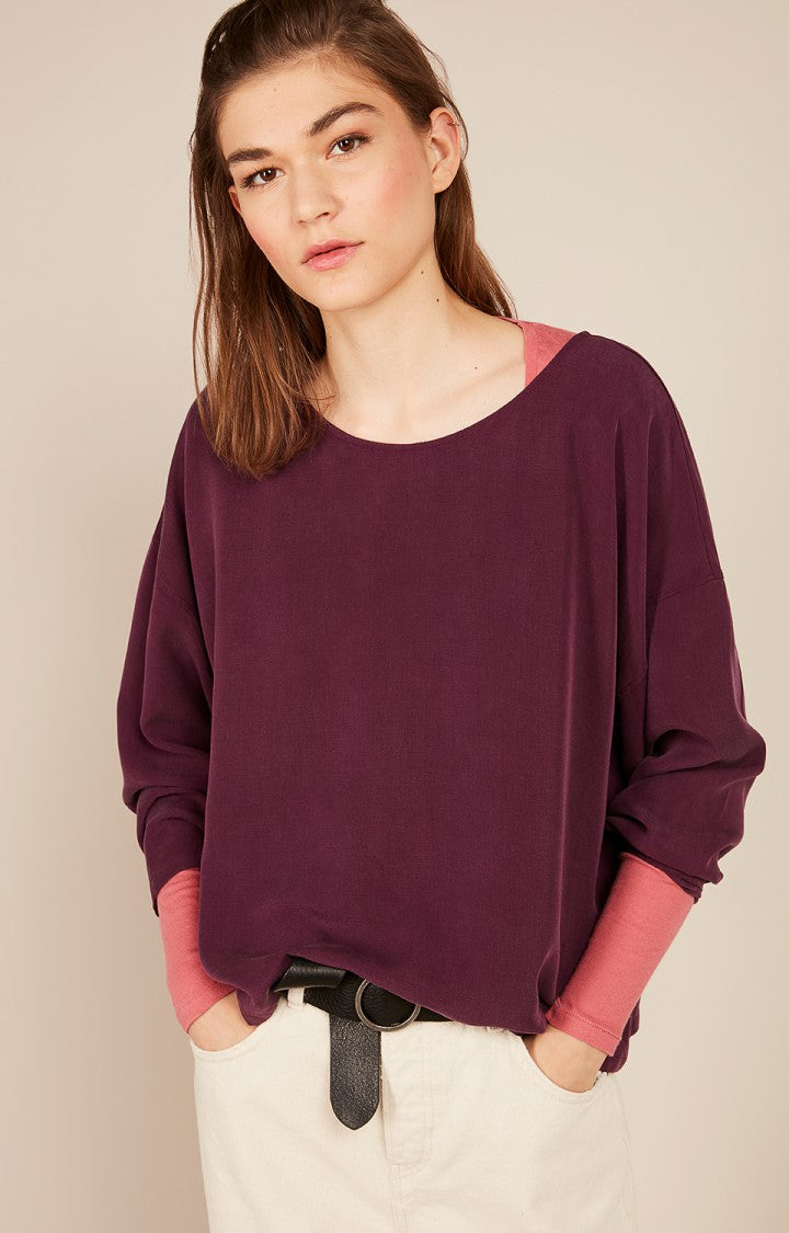 Nalastate Top in Purple