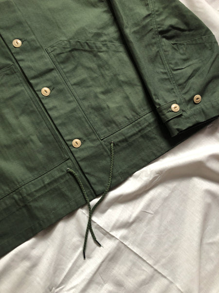 Nuclear Rain Waxed Herringbone Jacket Green
