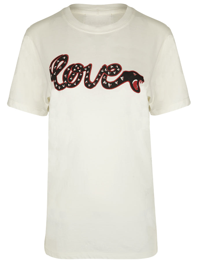 Love Snake T-Shirt in White