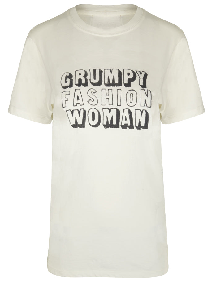 Grumpy Fashion Woman T-Shirt in White