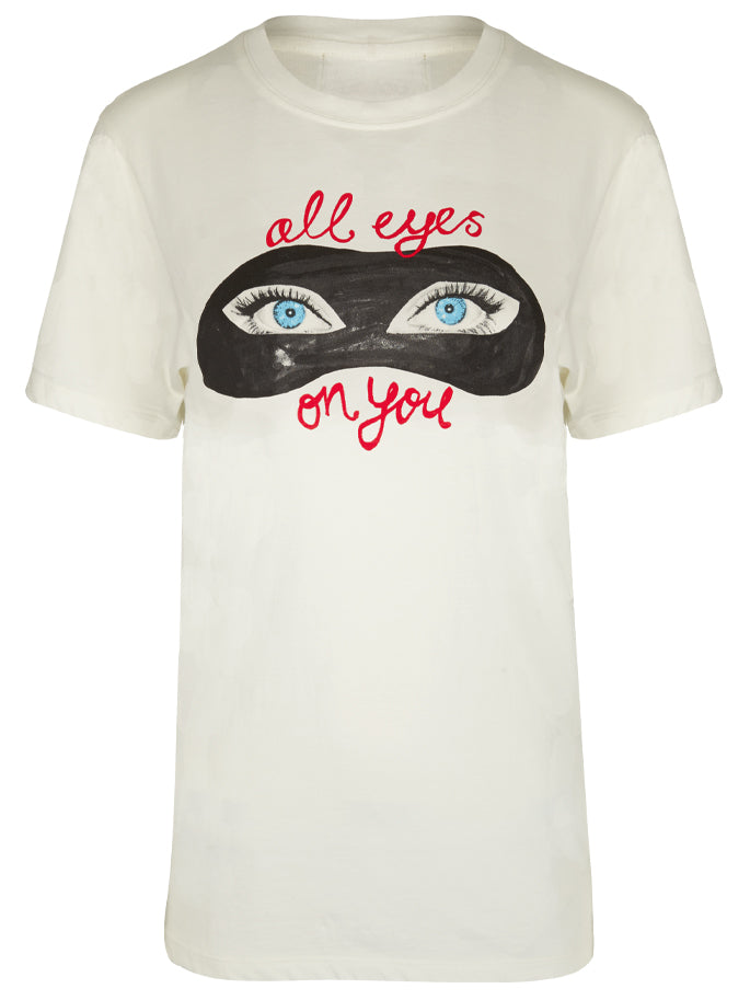 All Eyes On You T-Shirt in White