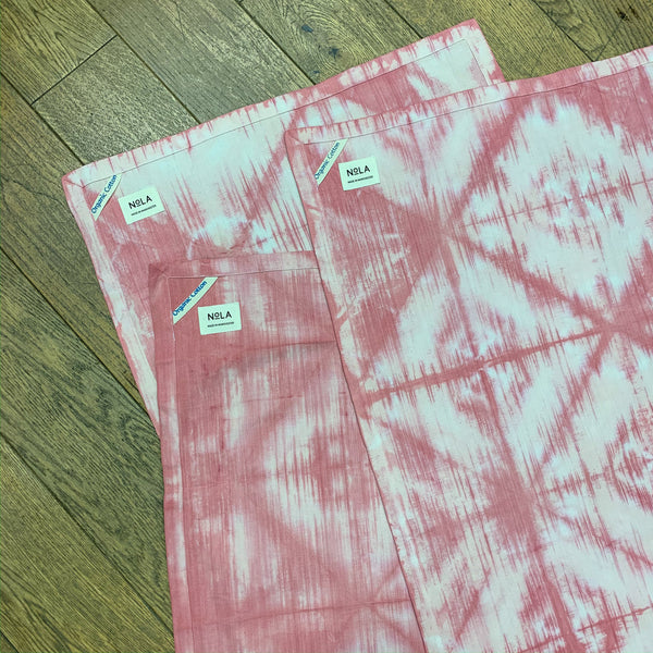 Hand Dyed Organic Cotton Tea Towels - Set of 3