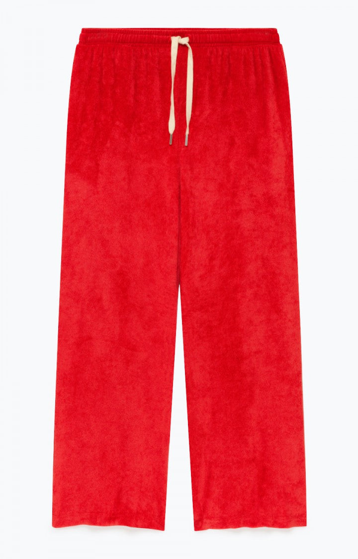 Ponpon Trousers in Red Berries