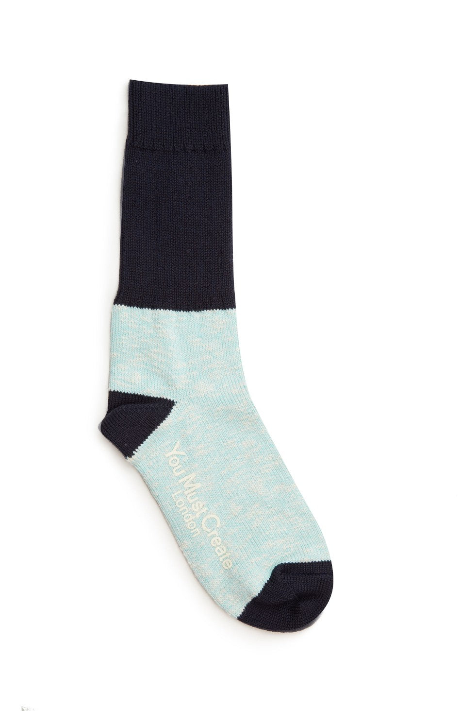 Colour Block Socks Sky/Navy