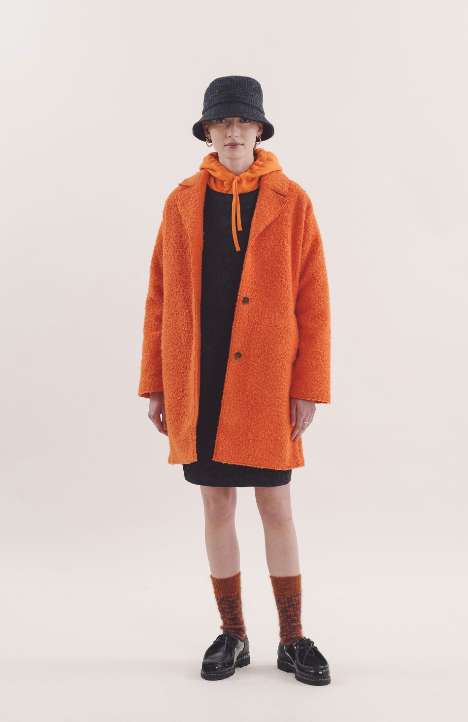Heroes Coat in Orange