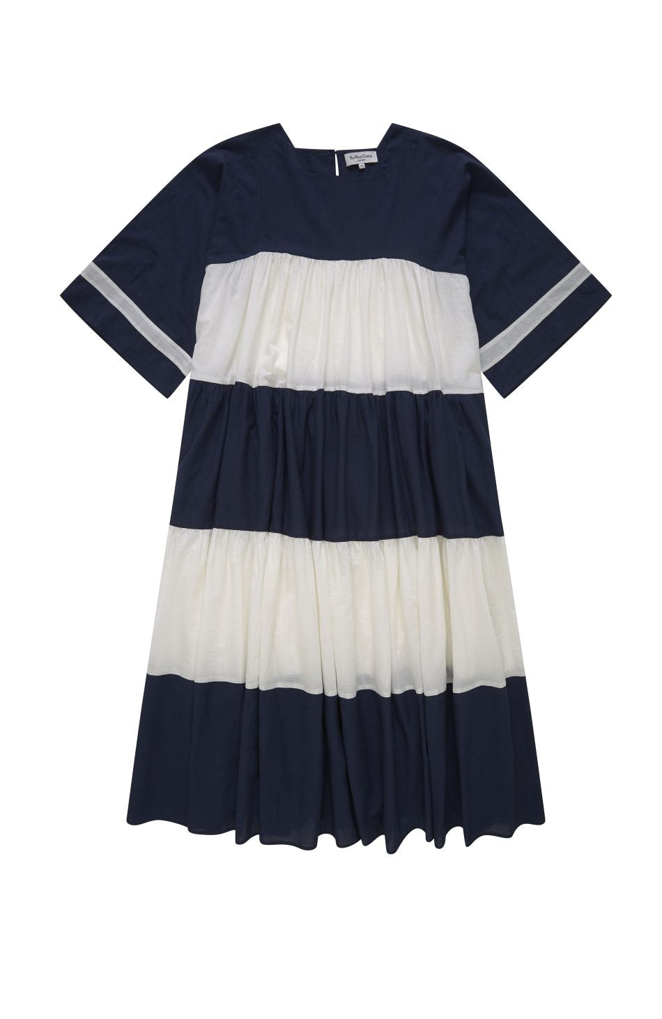 Paloma Dress in Navy and Cream