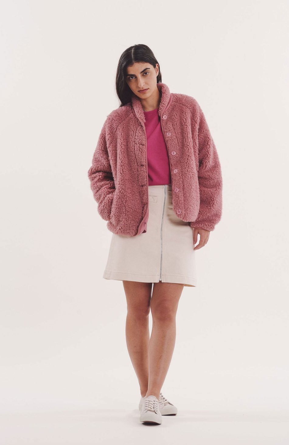 Beach Jacket in Pink