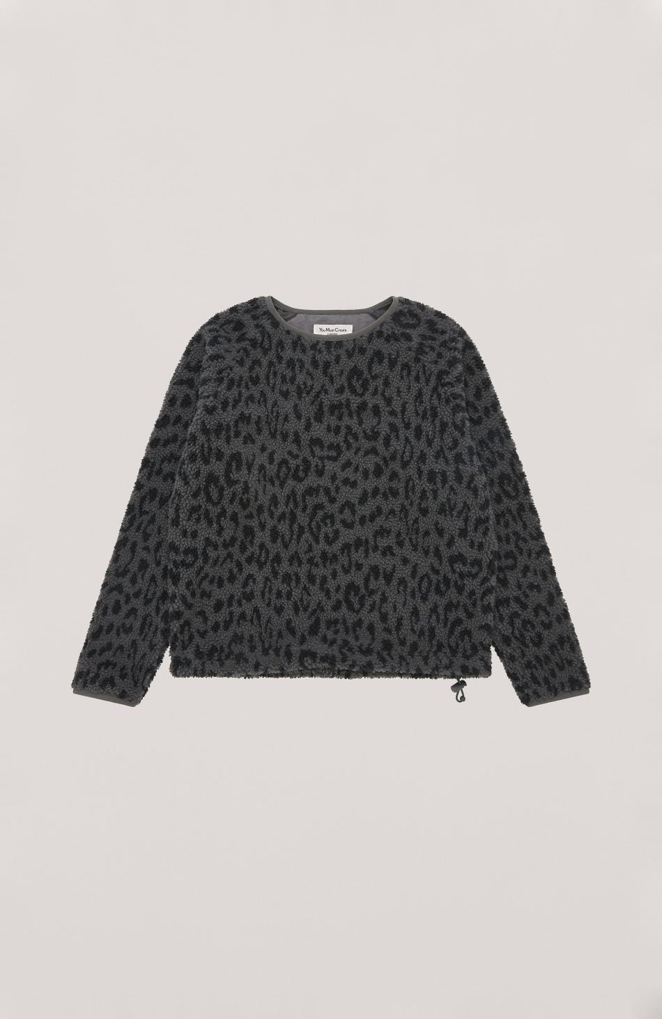 Deliverance Leopard Fleece in Grey and Navy