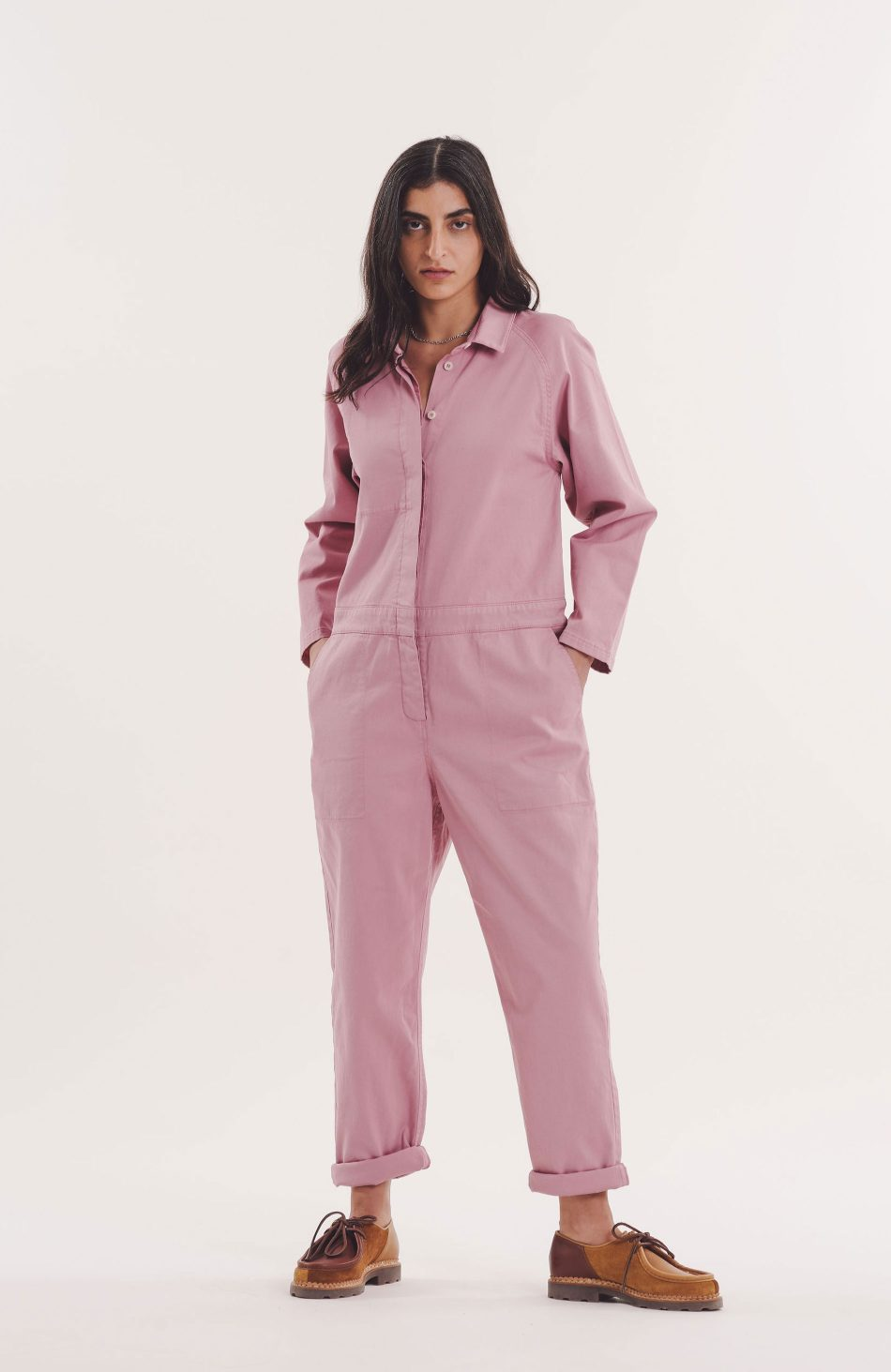Garland Boiler Suit in Pink