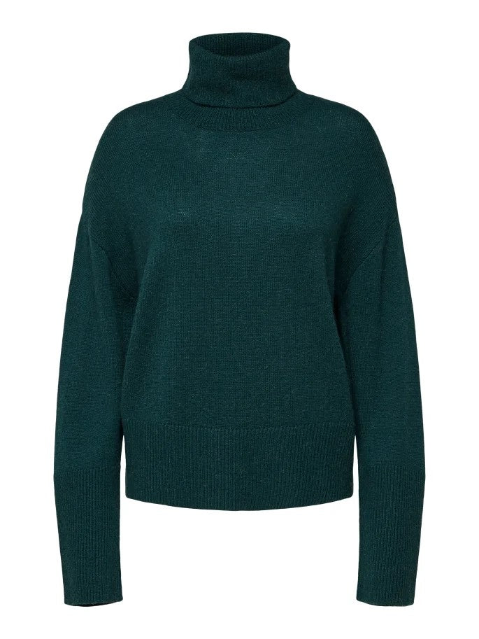 Rianna Roll Neck Sweater in Ponderosa Pine