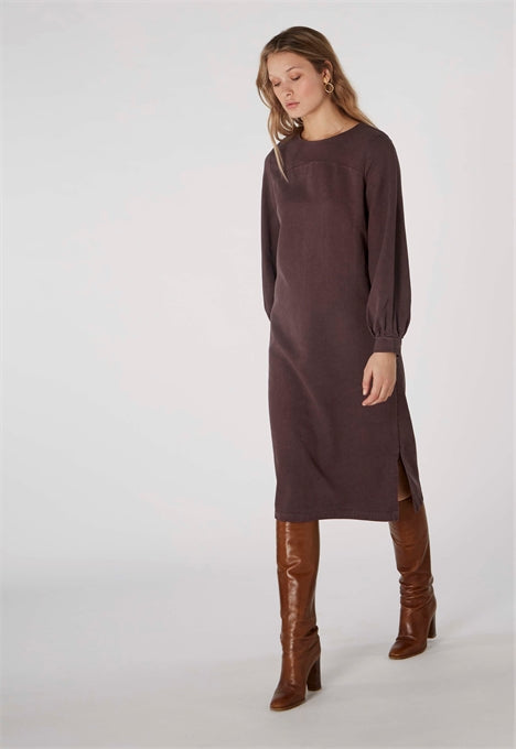 Seneca Dress in Frosted Fig