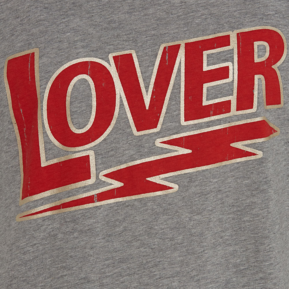 Lover T-Shirt in Grey, Red and Silver