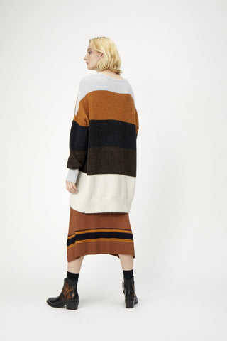 Sheena Block stripe Knit Sweater