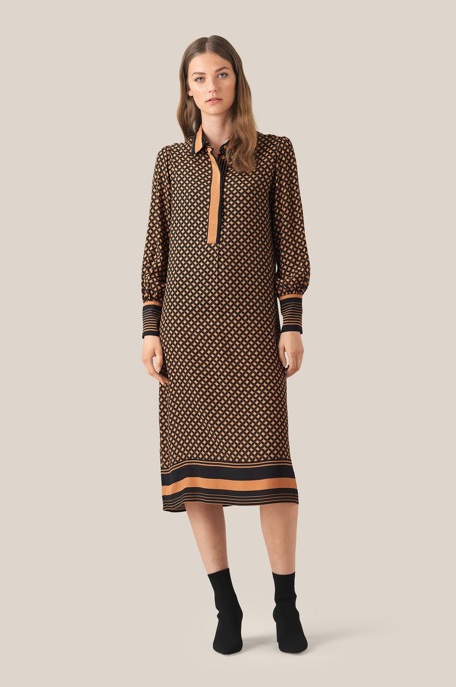 Sirius Long Sleeve Midi Dress