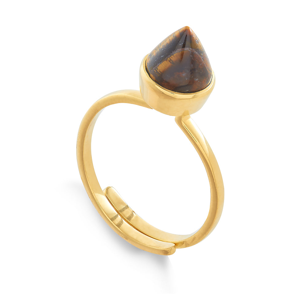 Tiger's Eye London Calling Ring