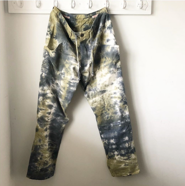 Zuma Pants Tie-Dye in Navy and Olive