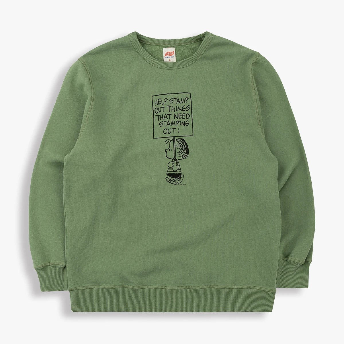 Stamp It Out Sweatshirt in Olive
