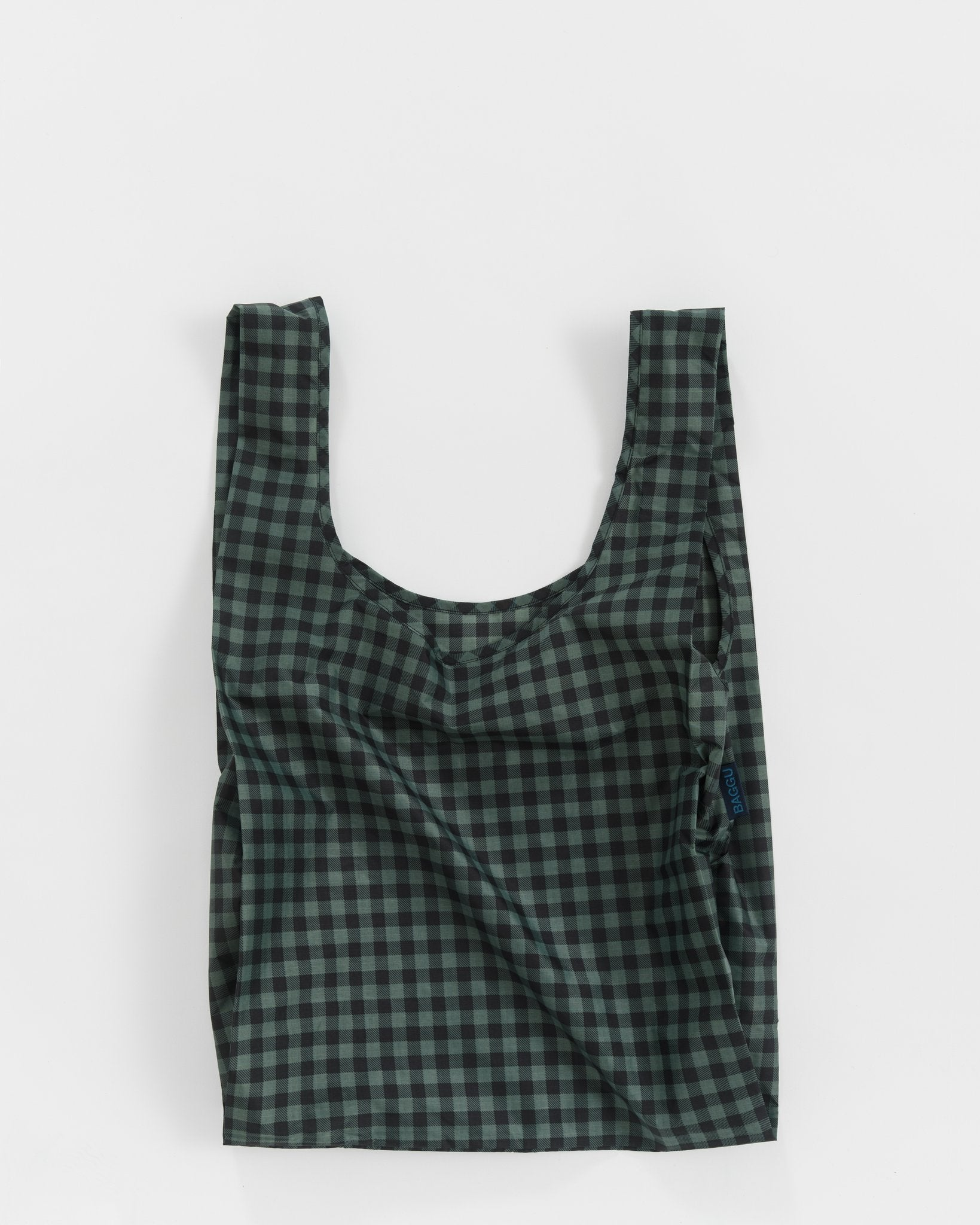 Green Gingham Tote