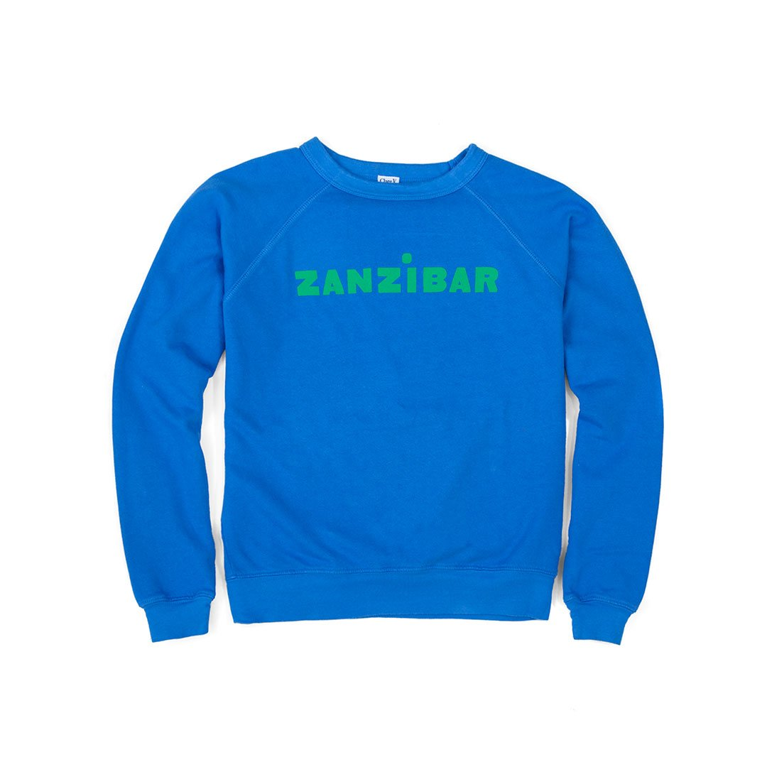 Zanzibar Sweatshirt in Blue and Green
