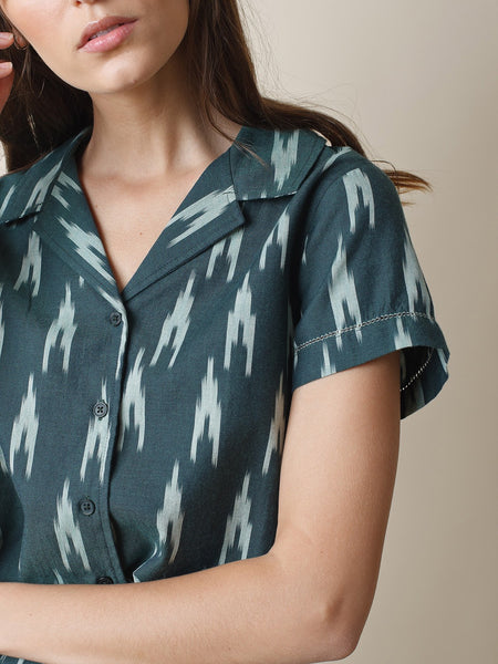 Ikat Shirt in Green