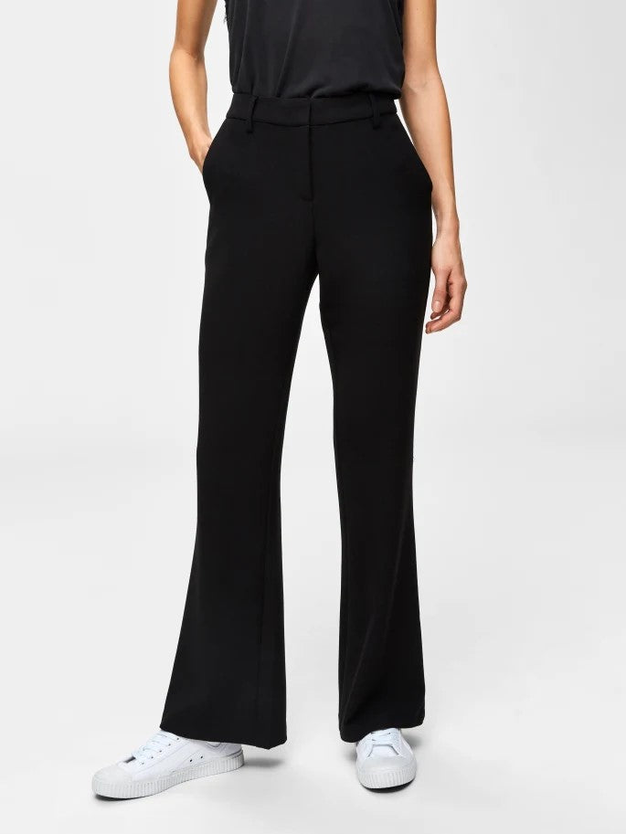 Terina Mid-Rise Pants in Black