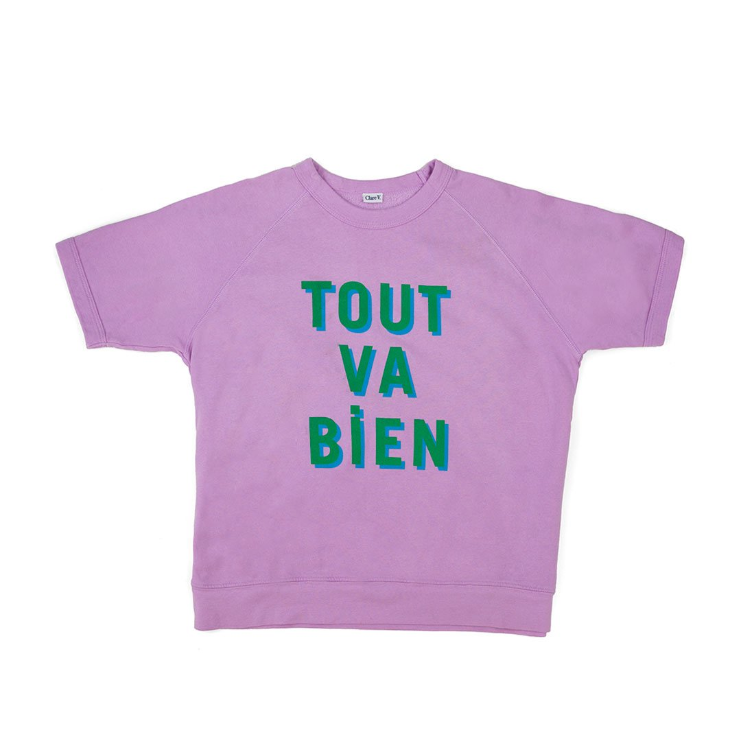 Tout Va Bien Short Sleeved Sweat Shirt