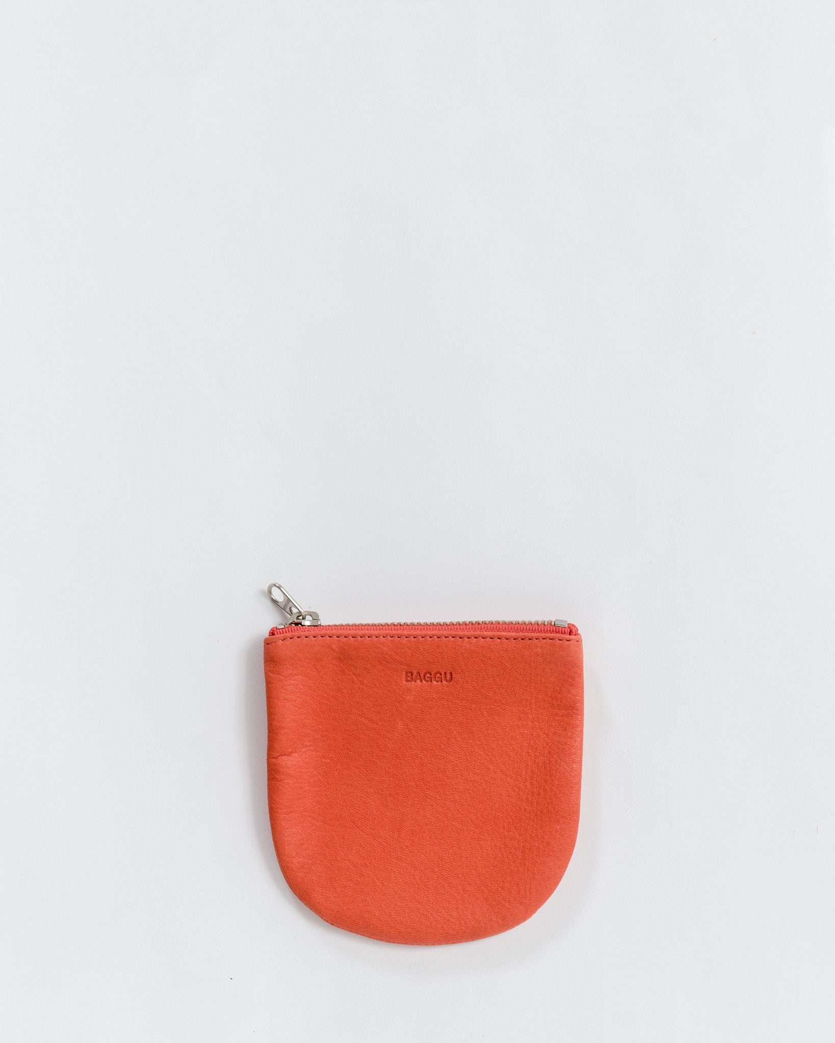 Small U Pouch in Warm Red