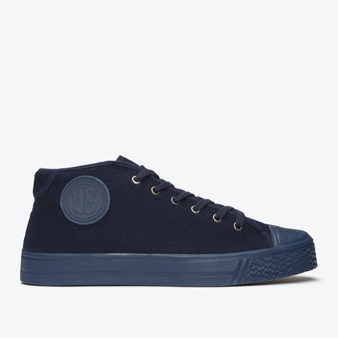 Military Felt Chukka Navy