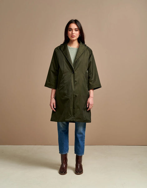 Veezy Coat in Dark Olive