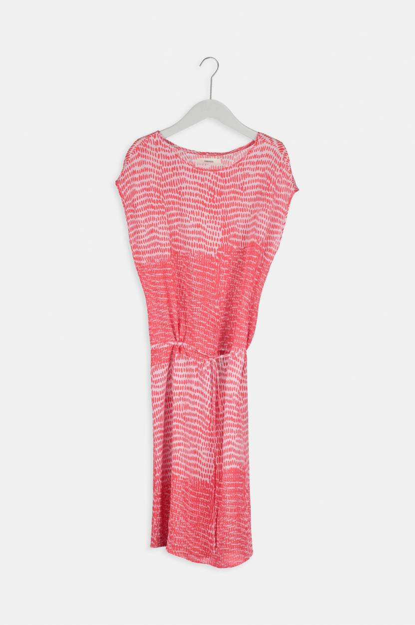 Emma Silk Dress in Punch