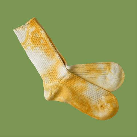 Tie Dye Socks Yellow