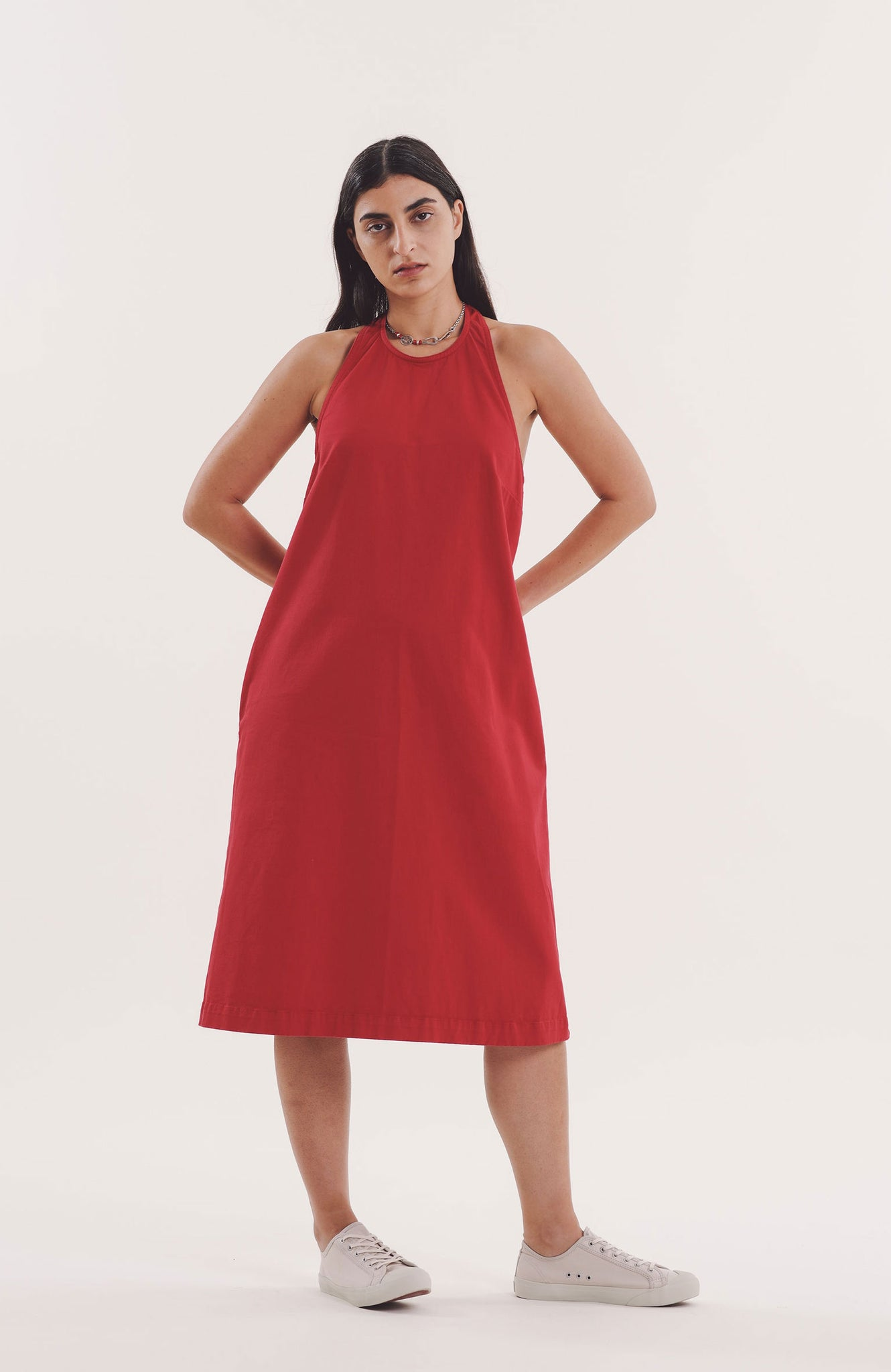 Apron Dress in Red