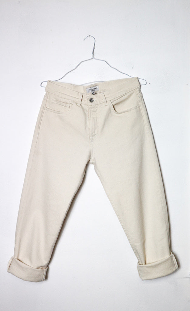 Tearaway Jeans in Cream