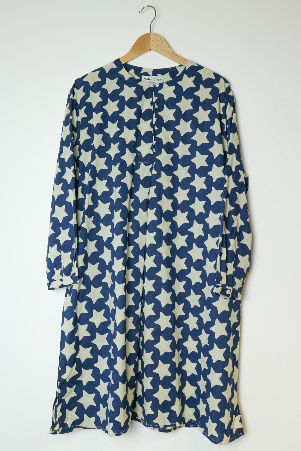 Niama Dress in Blue with Star Print