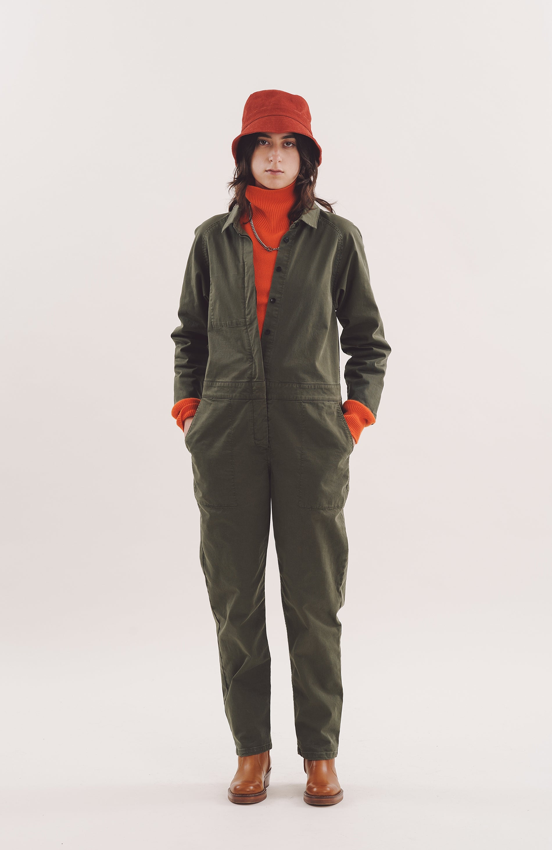 Garland Boilersuit in Olive