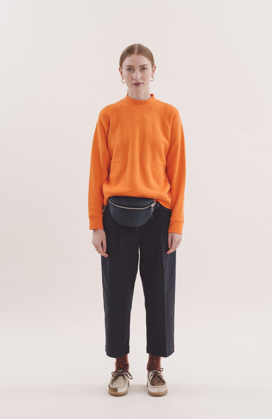 Touche Pocket Sweatshirt in Orange
