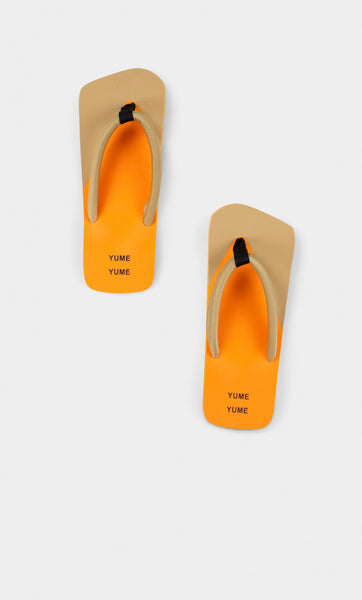 Xigy Flip Flop in Beige Orange and Black