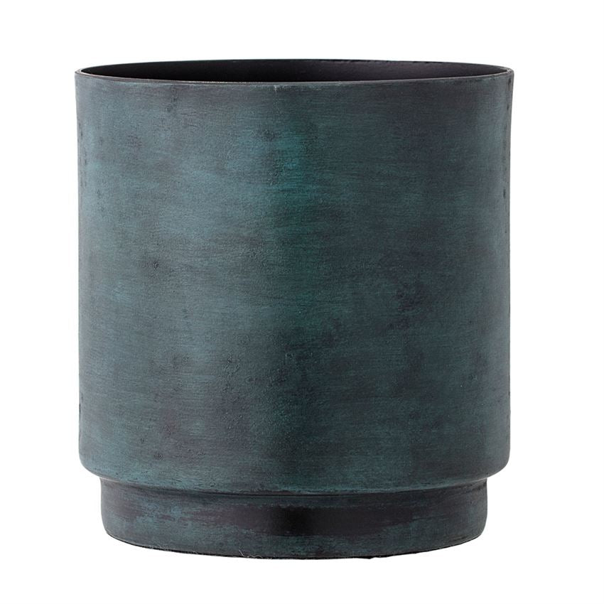 Aluminium Flowerpot in Marbled Green