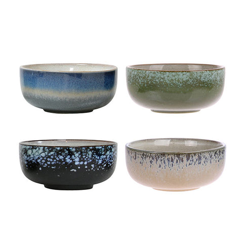 Set of 4 Ceramic 70's Medium Bowls