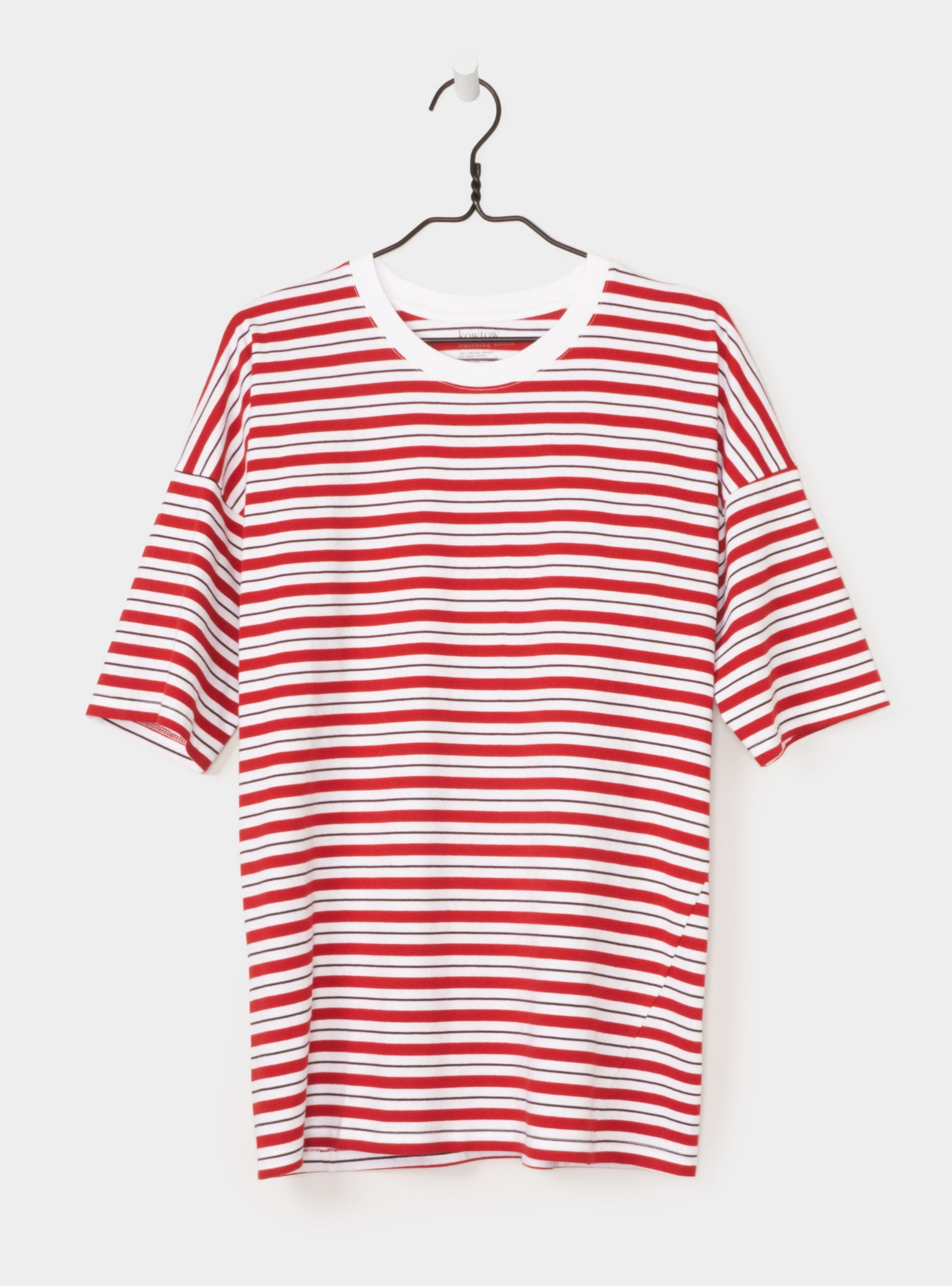 Tall Tee in Red Stripe
