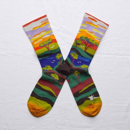 Multicoloured Tree Socks