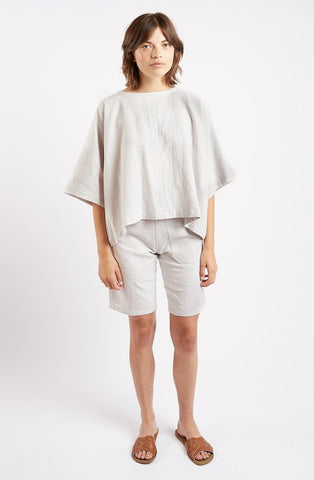 Edie Top in Cream Linen