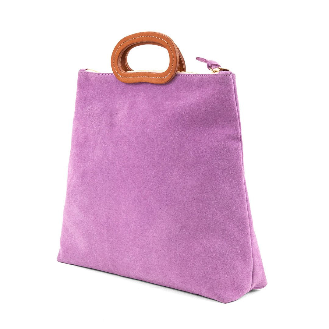 Marcelle Top Handle Tote in Lavender