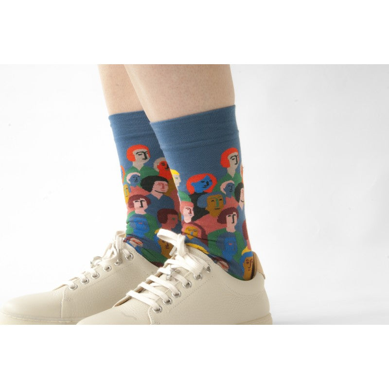 Crowd Socks in Denim