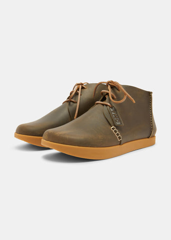 Yogi X YMC Archer Leather Chukka Boot in Olive