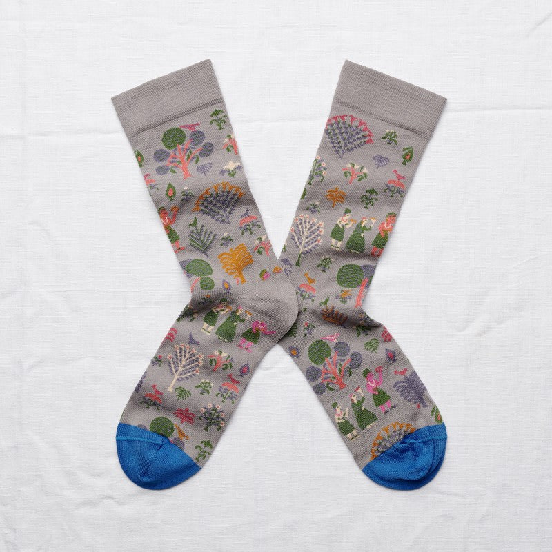 Country Socks in Elephant