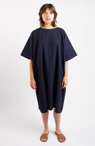 Edie Dress in Navy Sucker