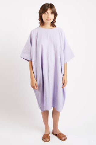 Edie Dress in Lilac Linen